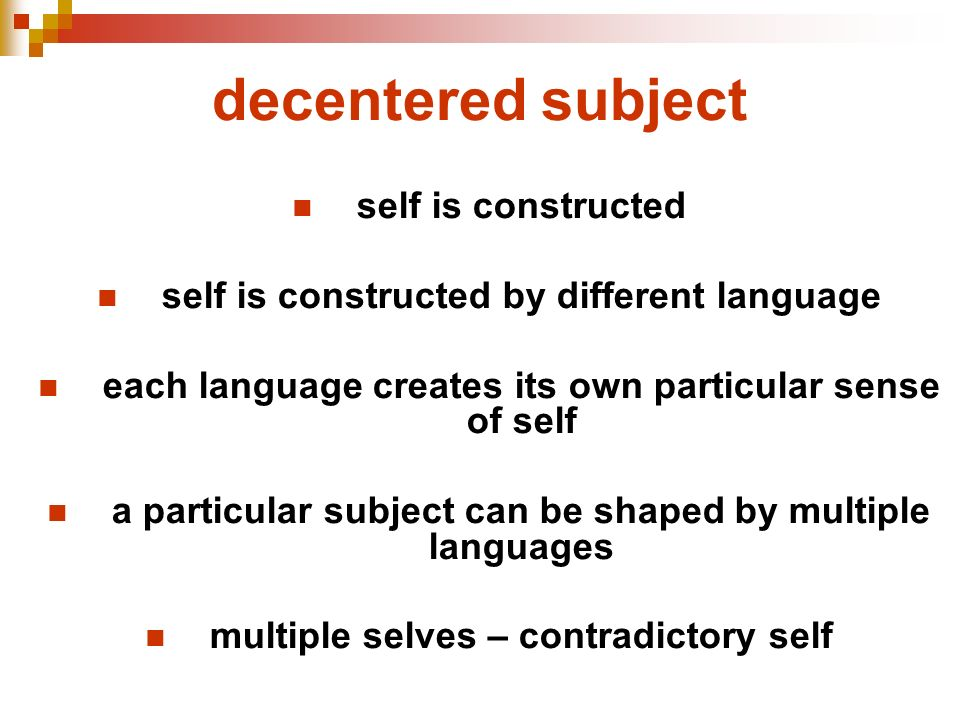 decentered subject self is constructed