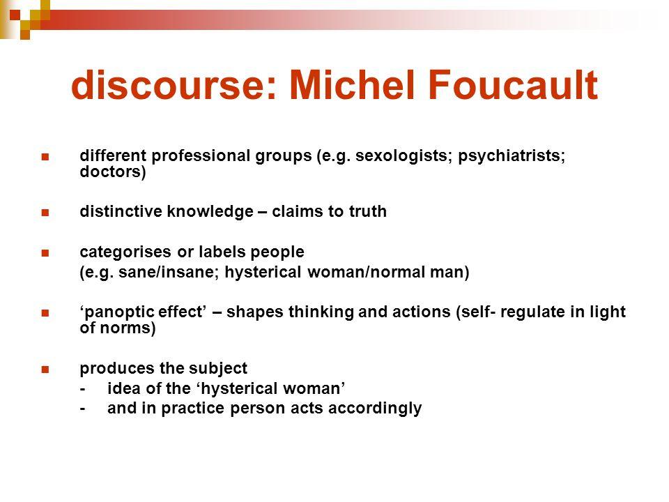 discourse: Michel Foucault