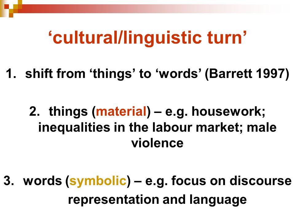 'cultural/linguistic turn'