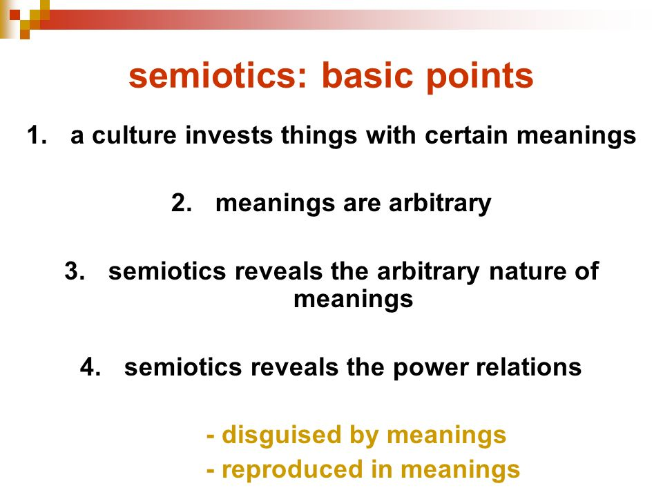 semiotics: basic points