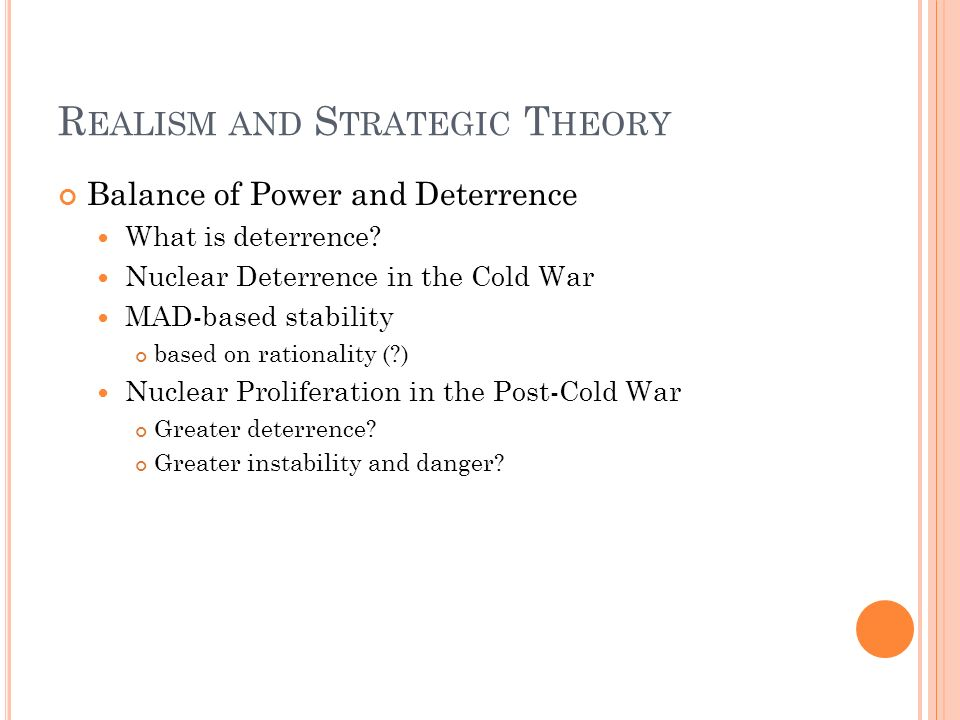 Realism and Strategic Theory