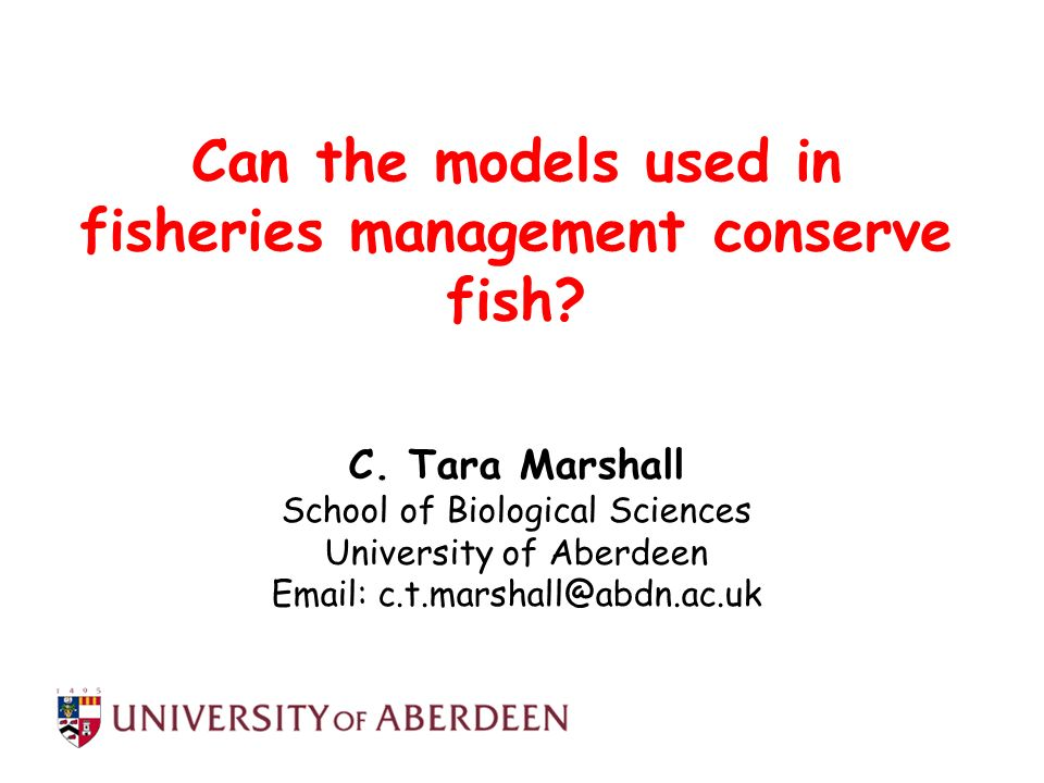 Can the models used in fisheries management conserve fish
