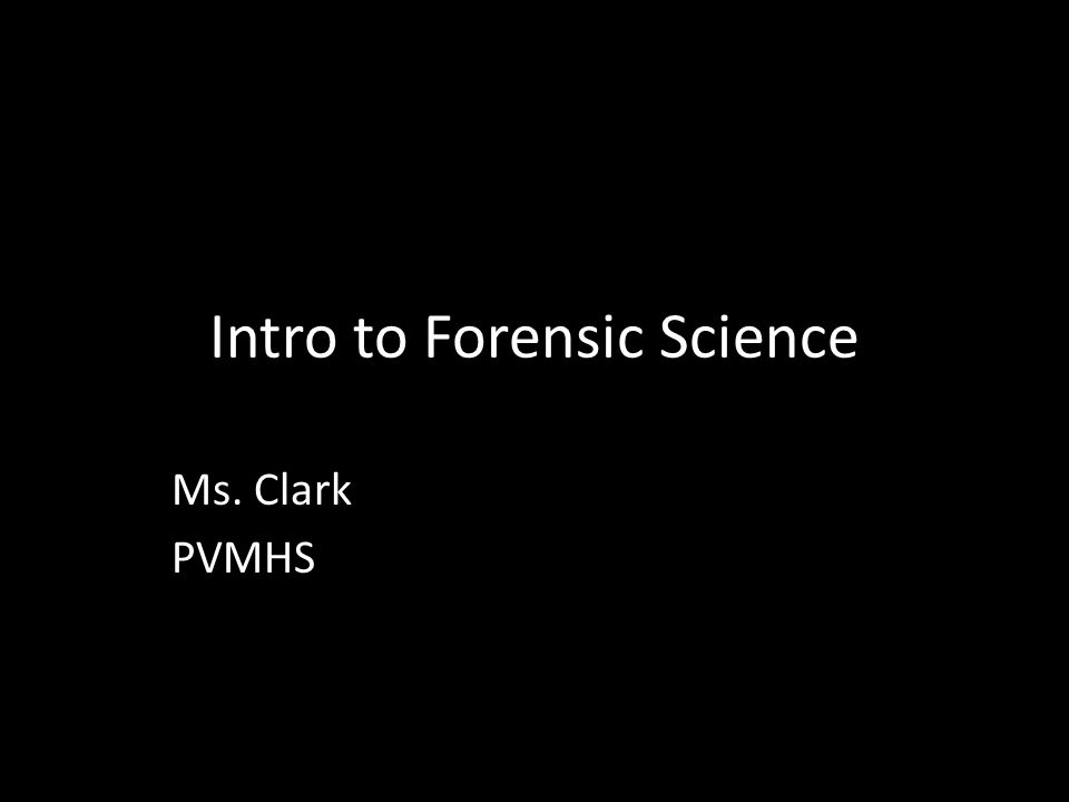 Forensic Science Homework Help
