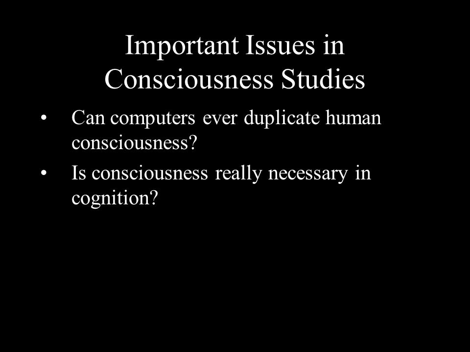 Important Issues in Consciousness Studies