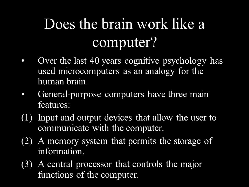 Does the brain work like a computer