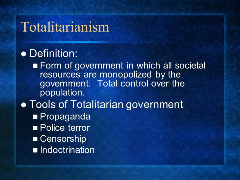 Totalitarianism Ch ppt download
