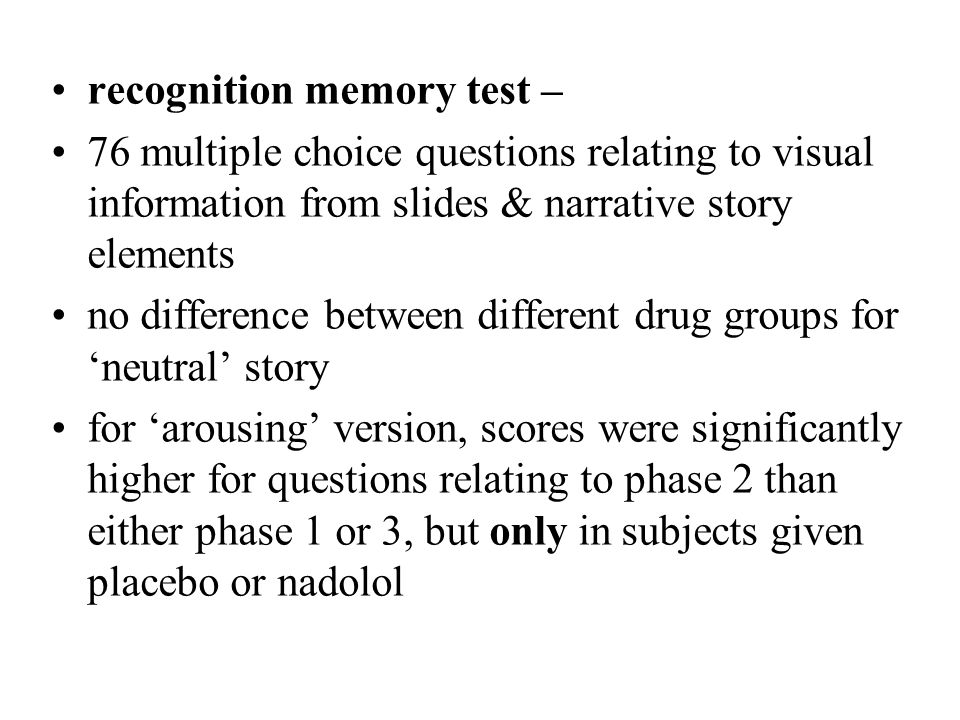 recognition memory test –