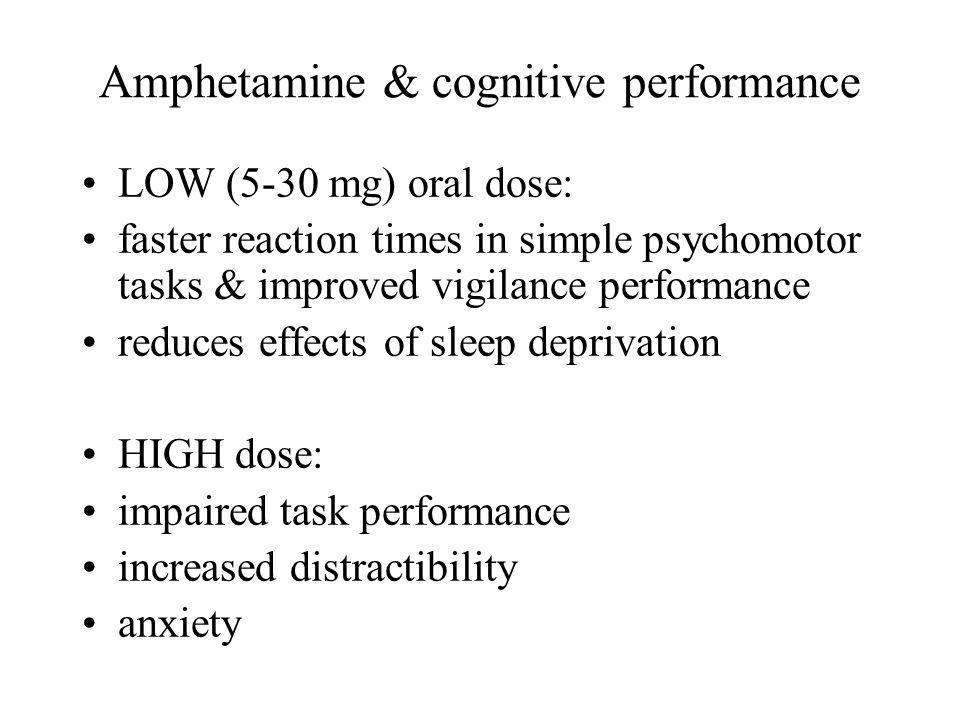 Amphetamine & cognitive performance