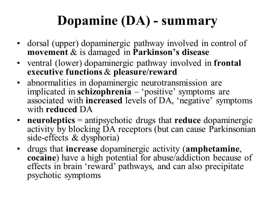 Dopamine (DA) - summary