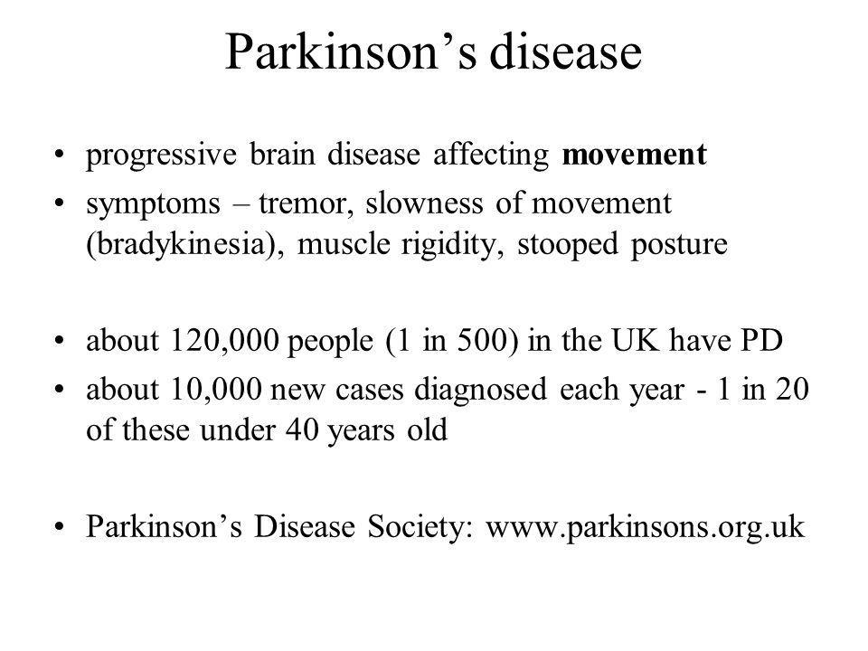 Parkinson's disease progressive brain disease affecting movement