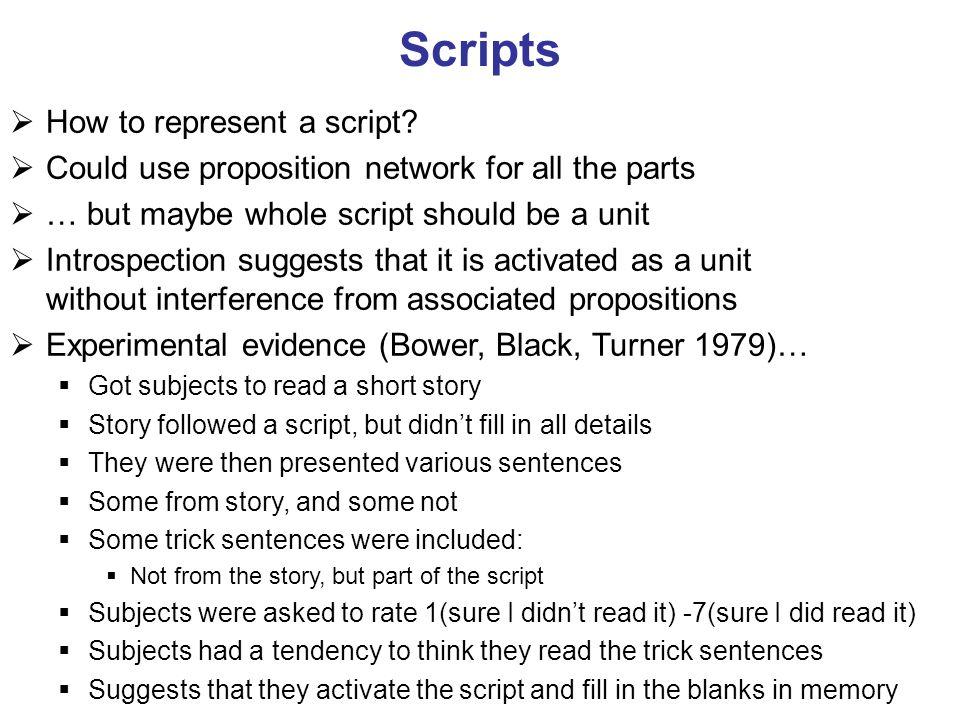 Scripts How to represent a script
