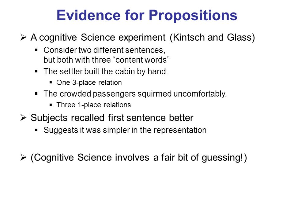 Evidence for Propositions