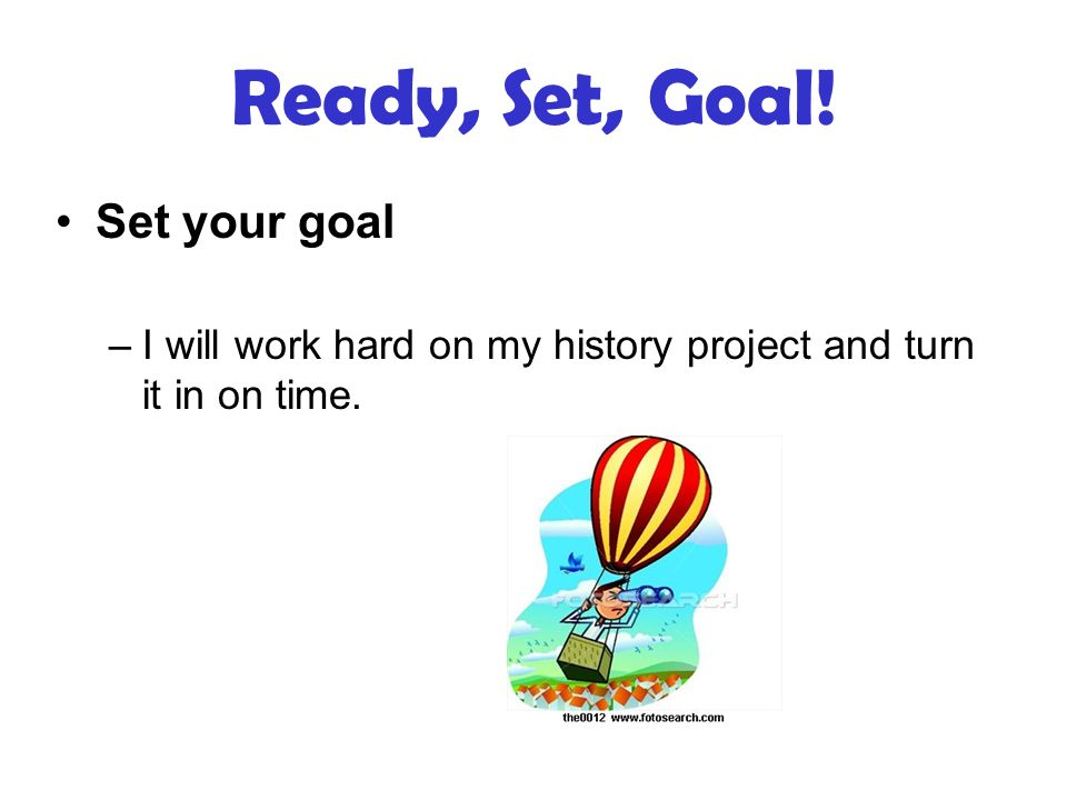 how to set goals for project officer