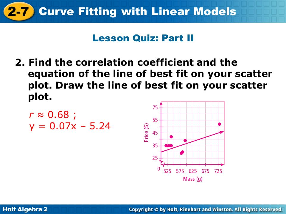 Write an equation for line of best fit worksheet