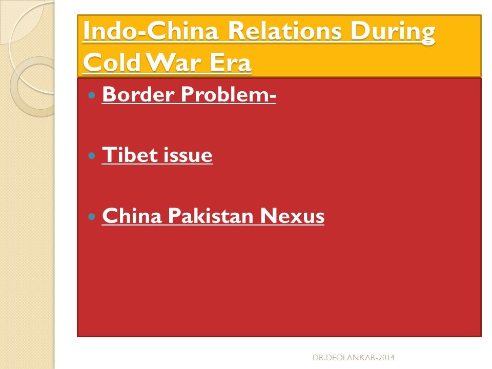 india china relations The initiation of sino-indian relations, dates back to around 2000 decades cultural and traditional exchanges through the silk route and later the spread of buddhism from china to east asia.
