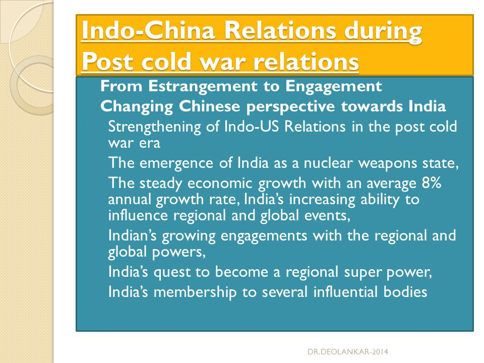 the changing relationships of the superpowers during the cold war Rethinking us-taiwan relations after the cold  us to pursue parallel relationships with taiwan and china,  during the cold war.