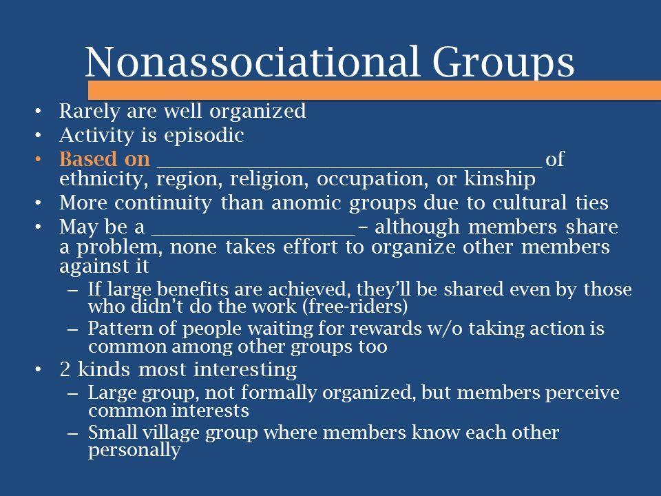 Nonassociational Groups