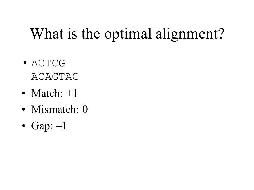 What is the optimal alignment