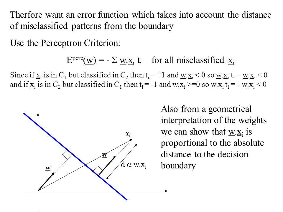 Use the Perceptron Criterion: