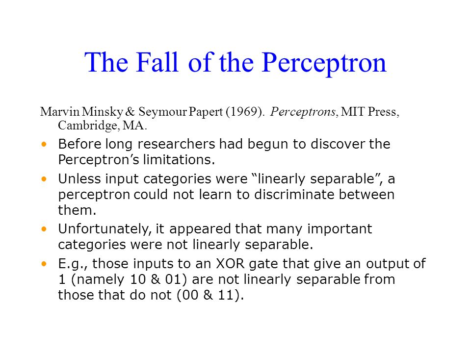 The Fall of the Perceptron