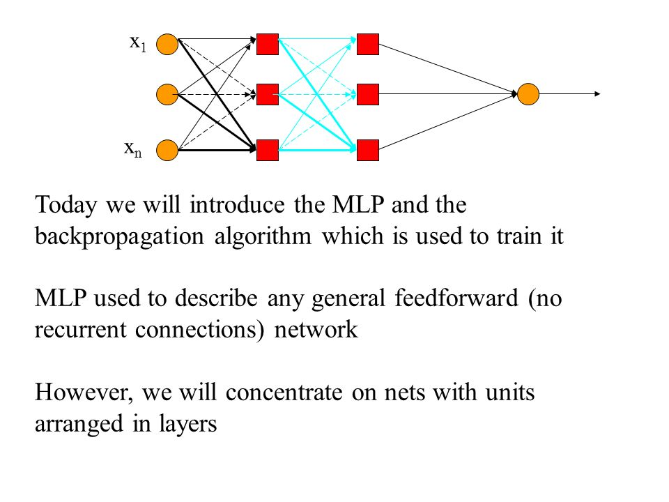 However, we will concentrate on nets with units arranged in layers