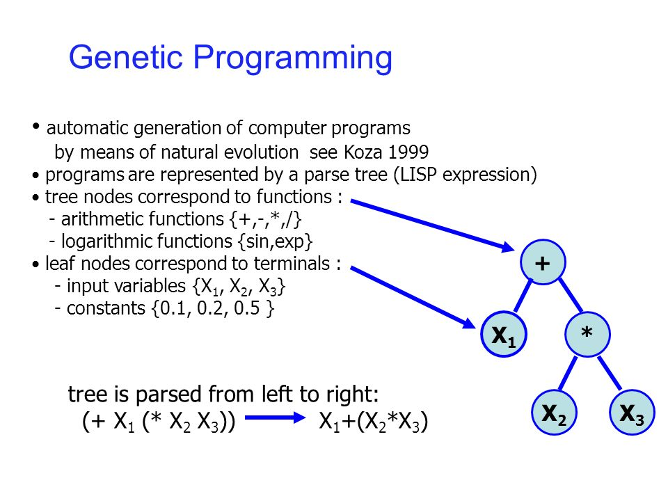 Genetic Programming : Crossover
