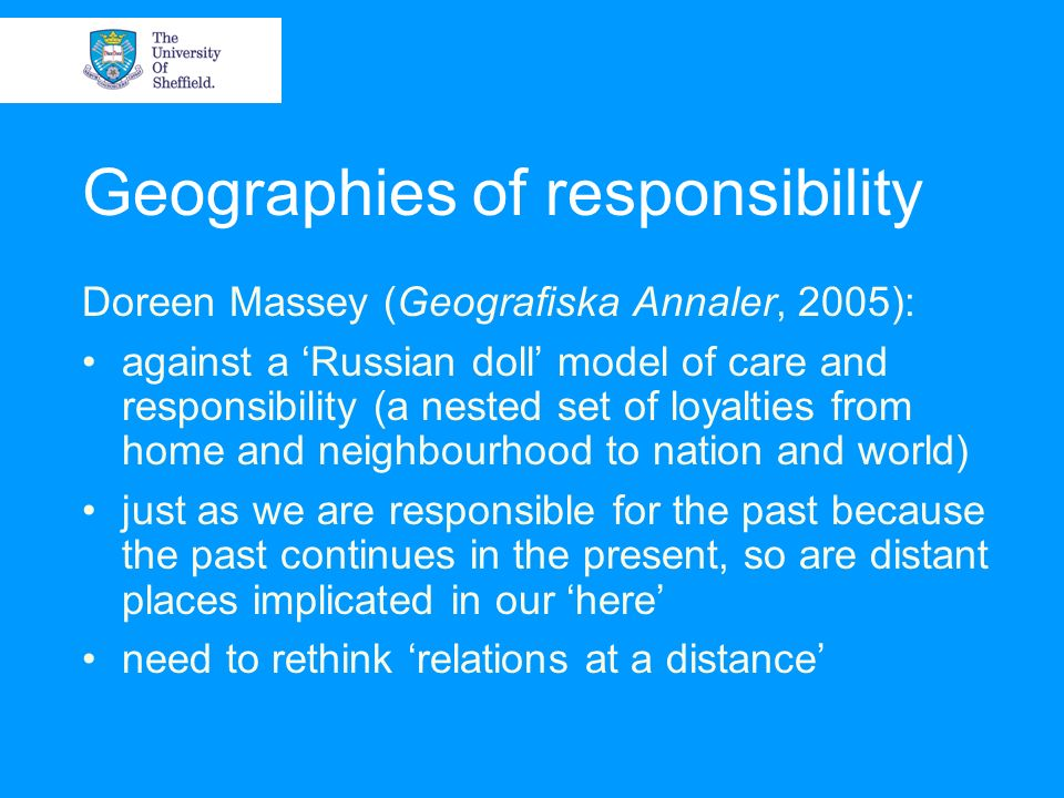 Geographies of responsibility