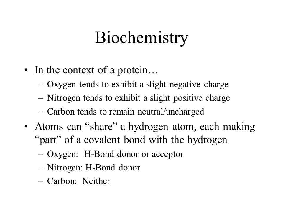 Biochemistry In the context of a protein…