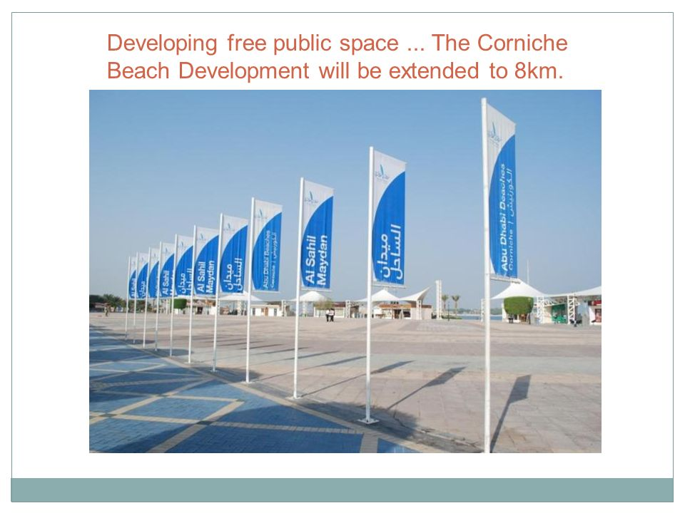 Developing free public space