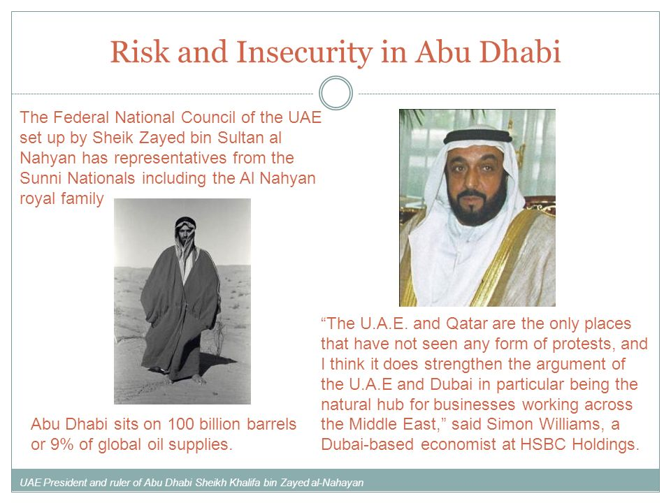 Risk and Insecurity in Abu Dhabi