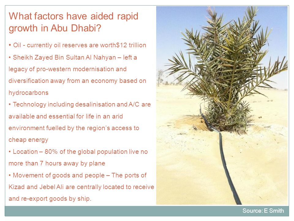 What factors have aided rapid growth in Abu Dhabi