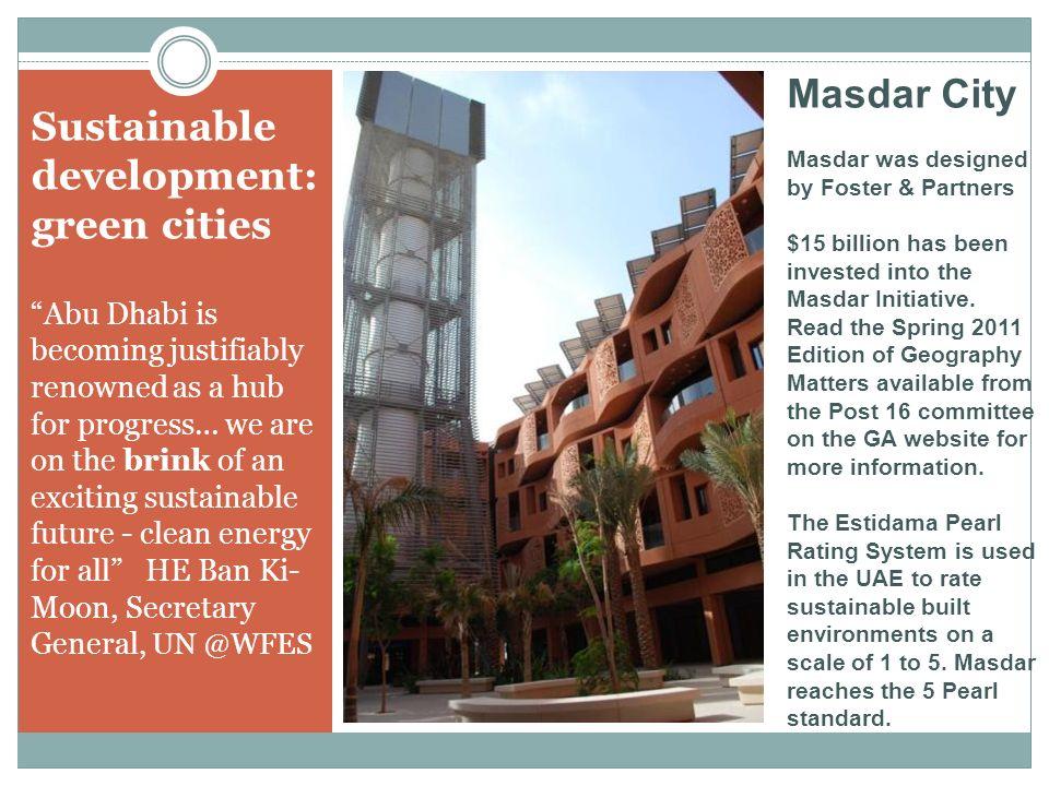 Sustainable development: green cities
