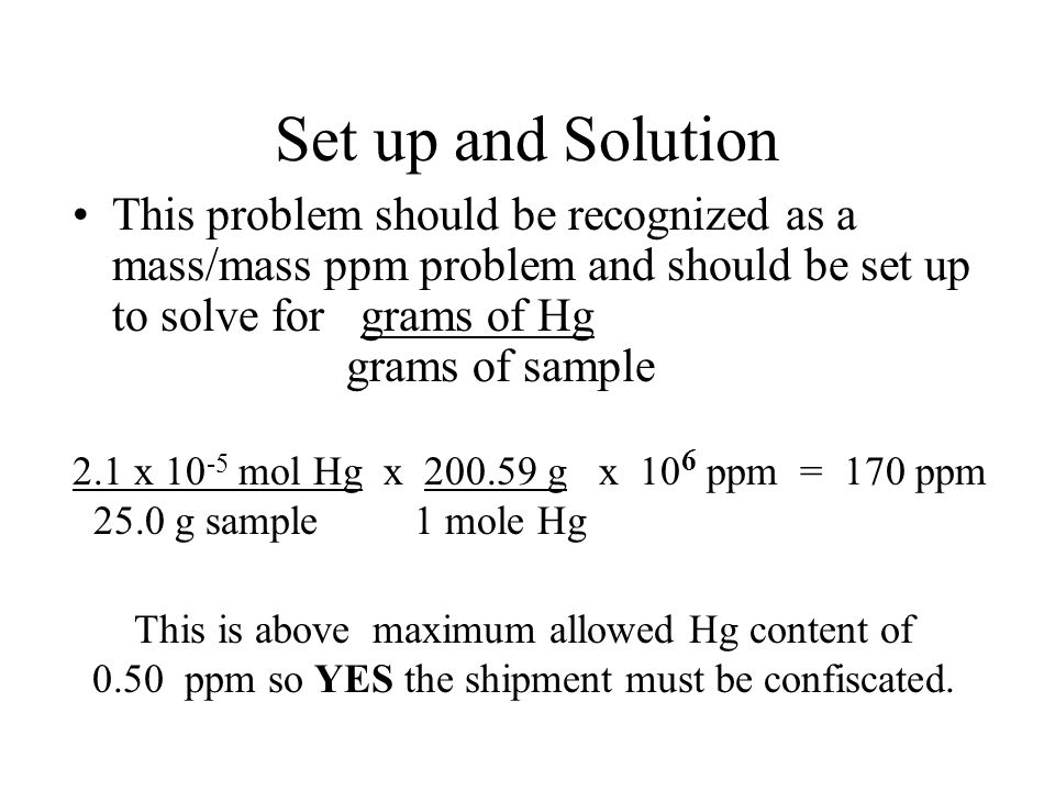 how to find mass from ppm sample
