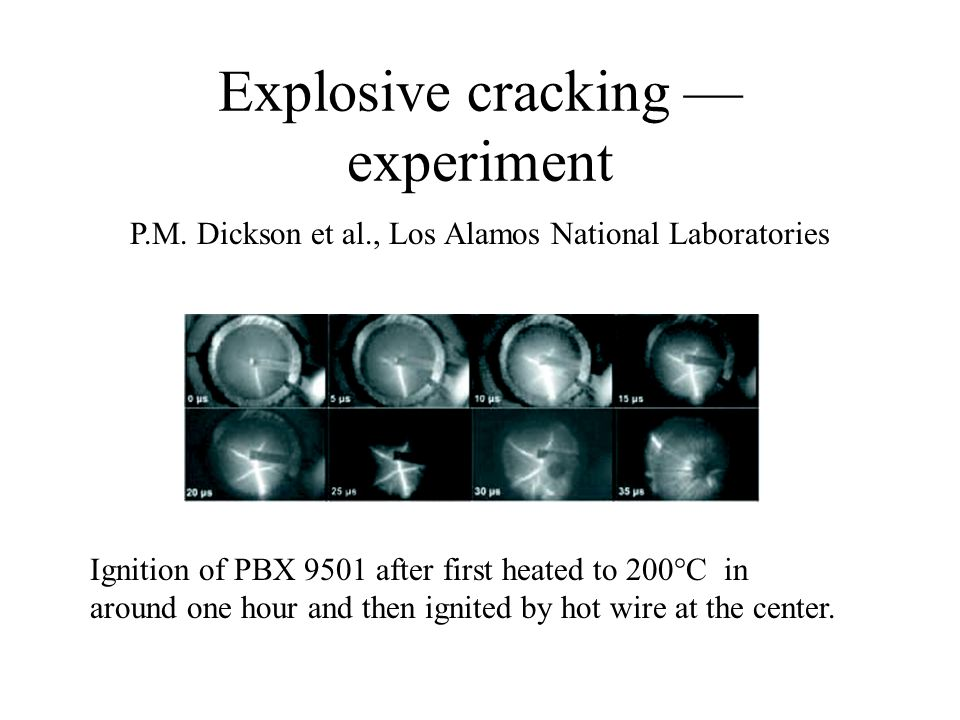 Explosive cracking — experiment