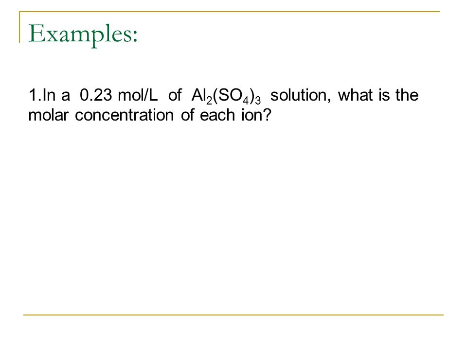 Solution Chemistry (Chp. 7/8) - ppt download