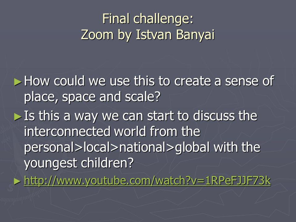 Final challenge: Zoom by Istvan Banyai