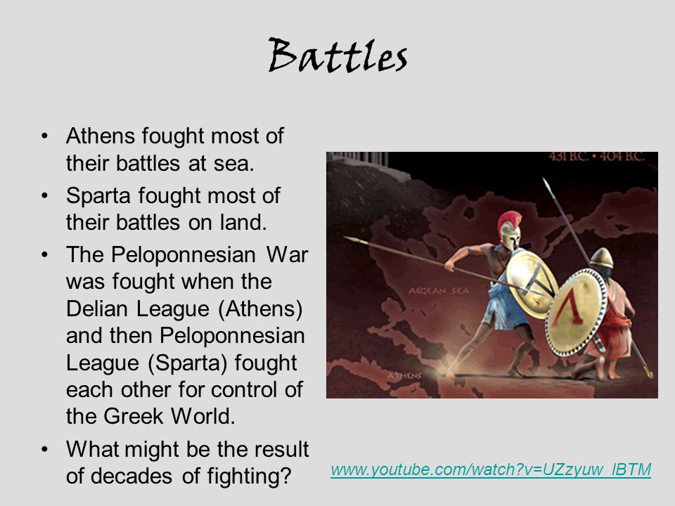 Battles Athens fought most of their battles at sea.