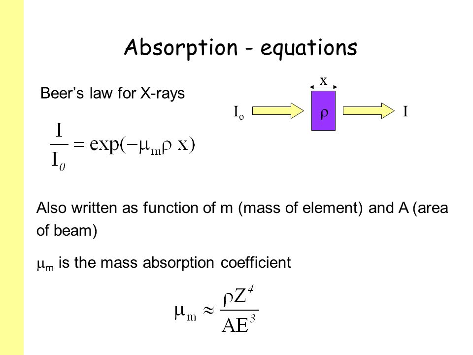 Absorption - equations