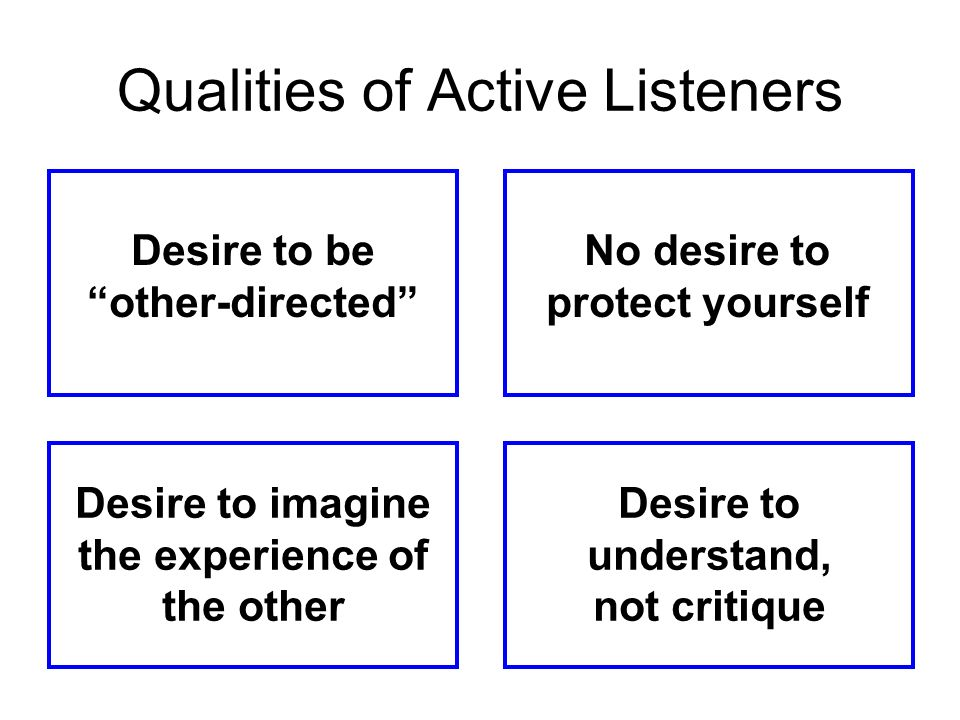 Qualities of Active Listeners
