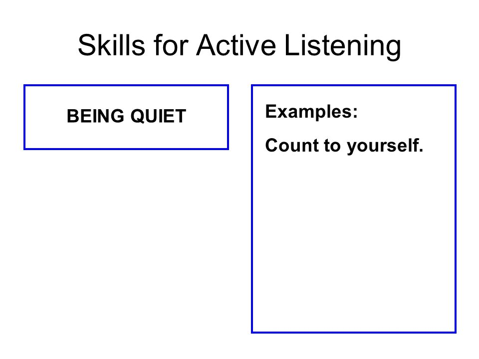 Skills for Active Listening