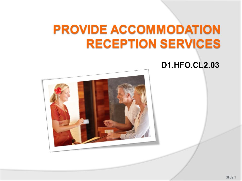 Provide reception services essay