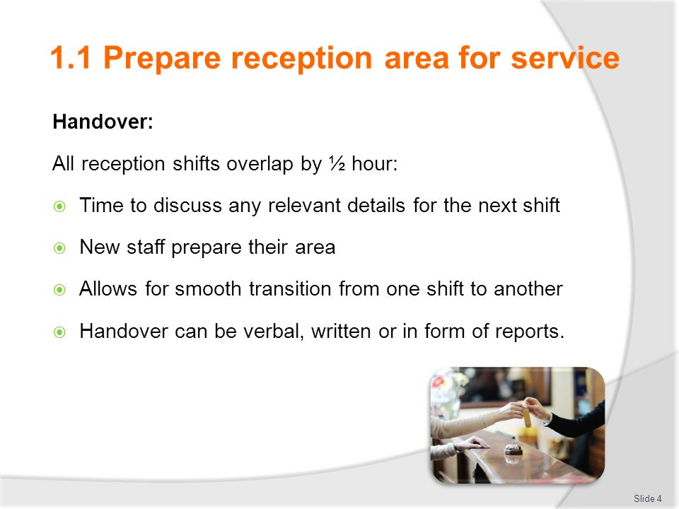 ba211 provide reception services Hltcom407b provide reception services for a practice date this document was generated: 27 may 2012 approved page 2 of 10 © commonwealth of.