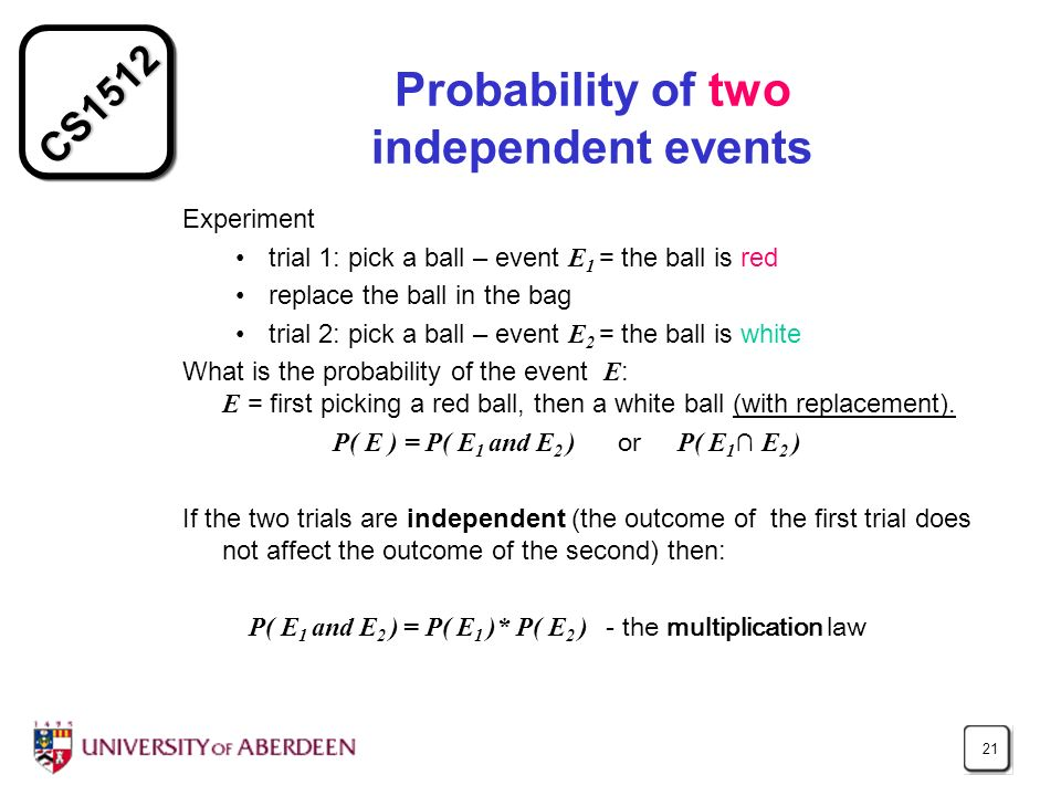 Probability of two independent events