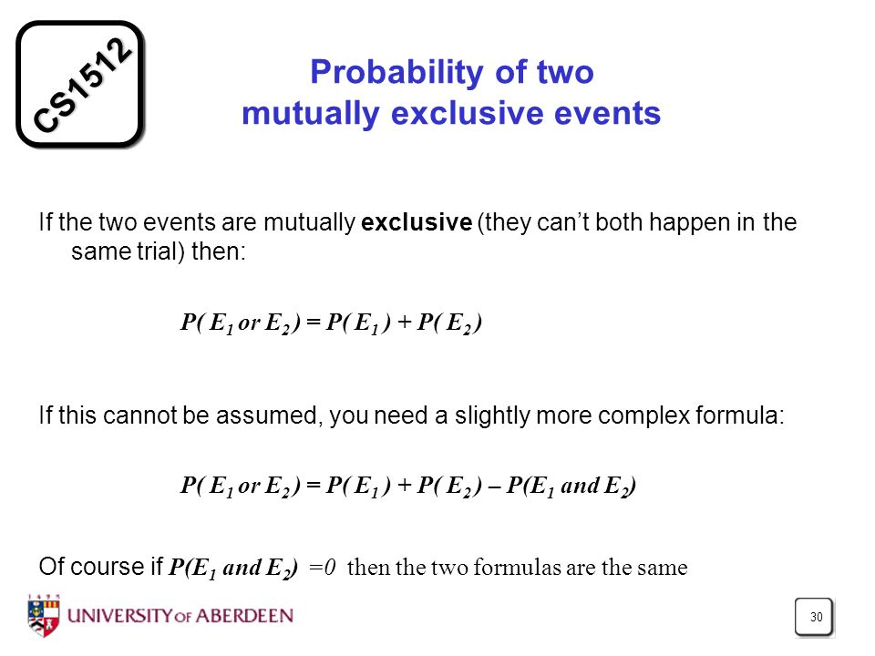Probability of two mutually exclusive events