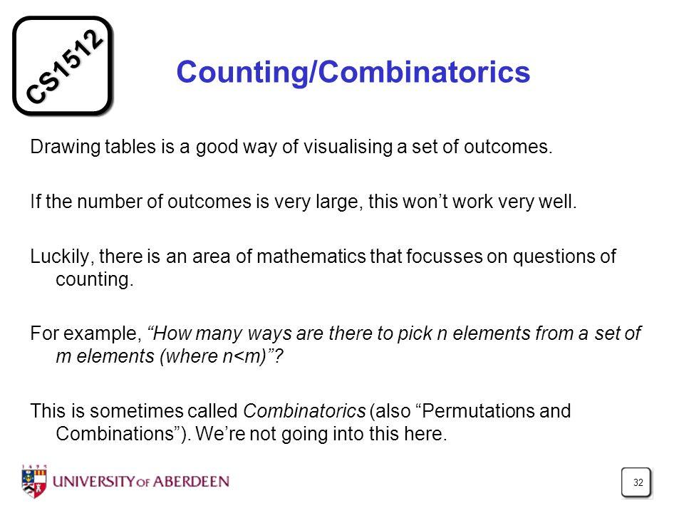 Counting/Combinatorics