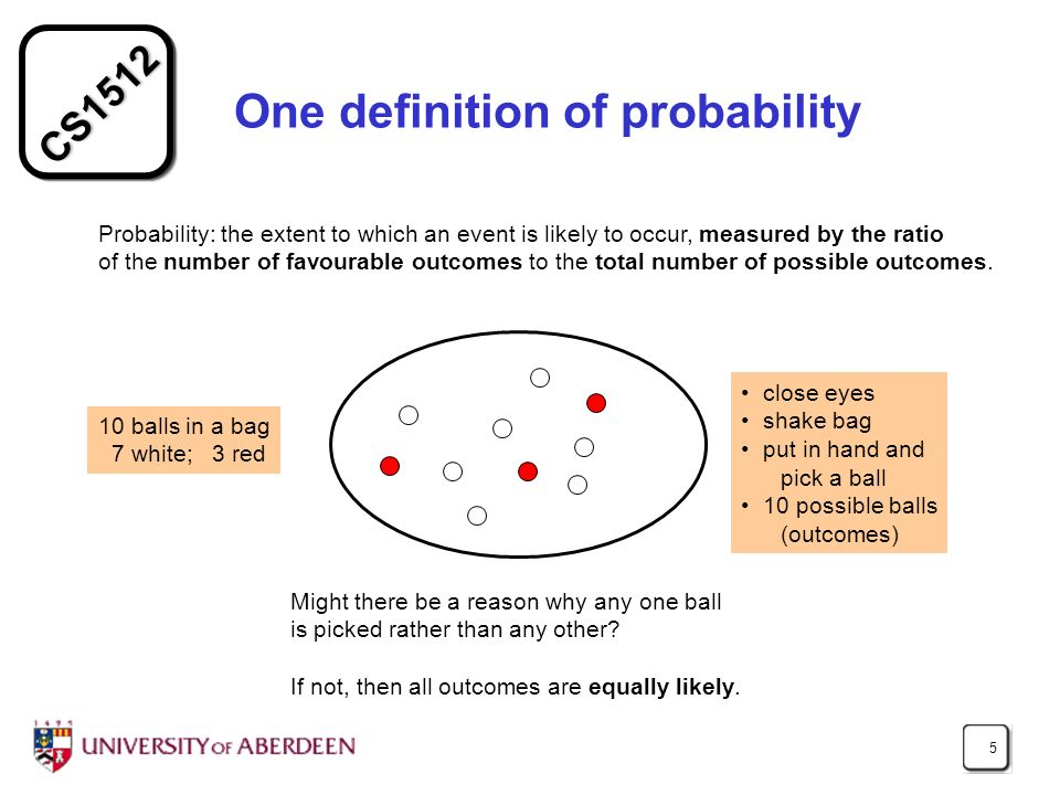 One definition of probability