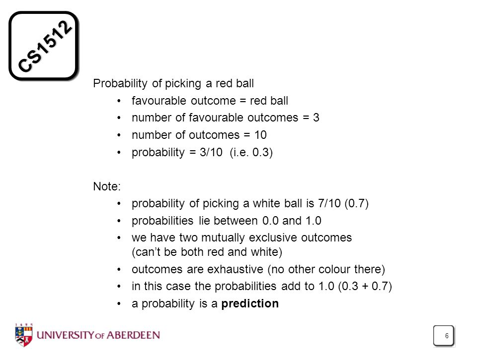 Probability of picking a red ball