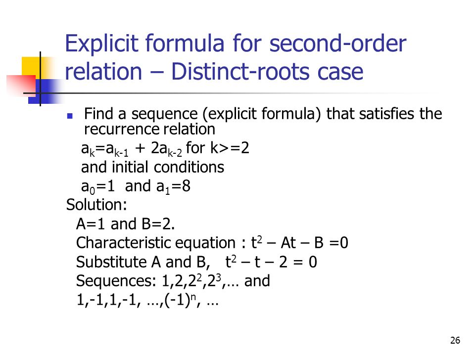 RECURRENCE Sequence Recursively defined sequence - ppt ...