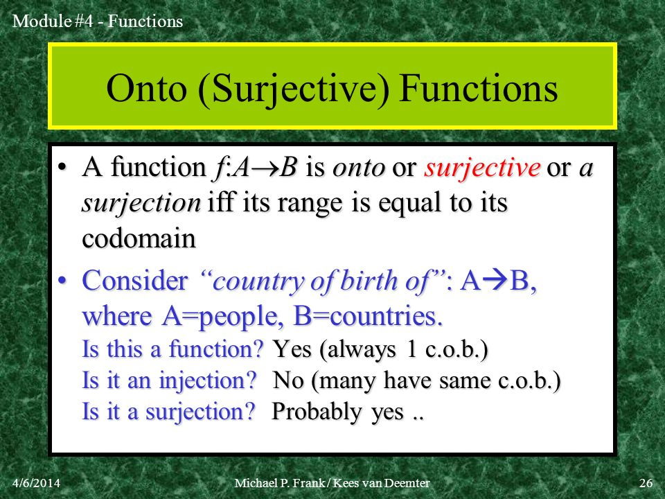 Onto (Surjective) Functions