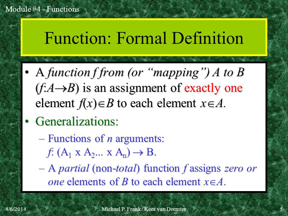 Function: Formal Definition